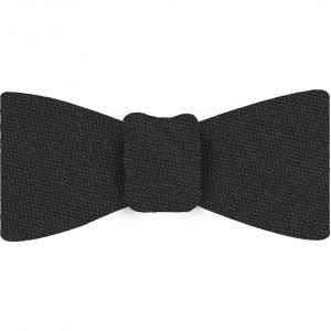 Dark Charcoal Gray Mulberrywood Weave Silk Bow Tie #MWBT-19
