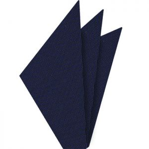 Navy Blue Oxford Silk Pocket Square #FFOXP-3