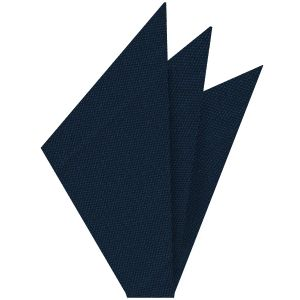 Midnight Blue Mulberrywood Weave Silk Pocket Square #MWP-4