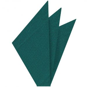 Dark Green Turquoise Mulberrywood Weave Silk Pocket Square #MWP-6