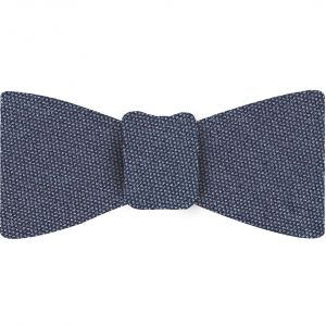 Silver Blue Mulberrywood Weave Silk Bow Tie #MWBT-8