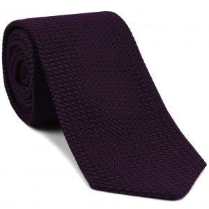 Dark Purple/Black Grenadine Grossa Silk Tie #GGT-35