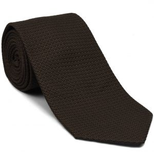 Bitter Chocolate Grenadine Grossa Silk Tie #GGT-6