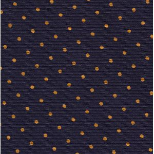 Orange on Midnight Blue Macclesfield Print Silk Pocket Square #MCPDP-6