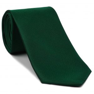 Bottle Green Oxford Silk Tie #EOXT-12