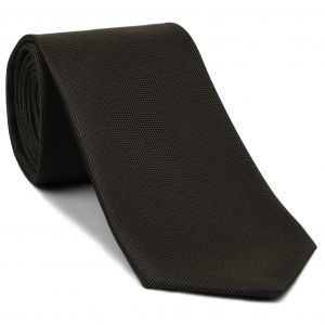Bitter Chocolate Oxford Silk Tie #EOXT-9