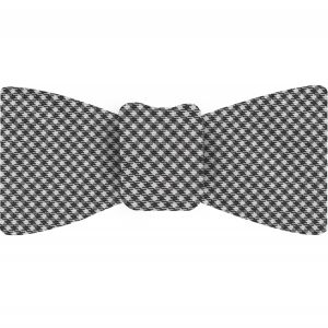 Black & White Shepherd's Check Silk Bow Tie #SCHBT-4