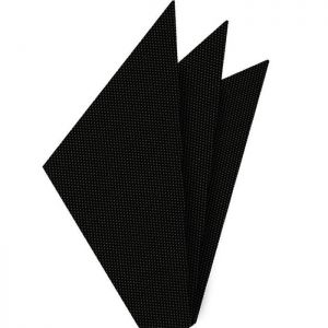 Black Oxford Silk Pocket Square #FFOXP-1