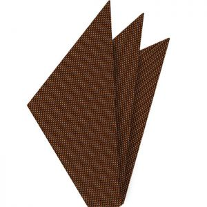 Burnt Orange Oxford Weave Silk Pocket Square #FFOXP-19