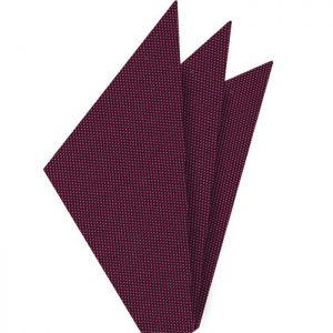 Fuchsia Oxford Silk Pocket Square #FFOXP-7