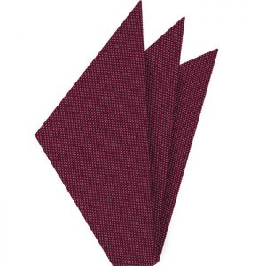 Dark Fuchsia Oxford Silk Pocket Square #FFOXP-8