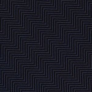Dark Navy Blue Herringbone Silk Pocket Square #HBP-1