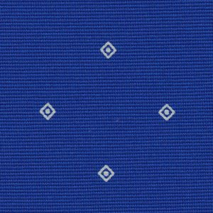 White on Royal Blue Macclesfield Print Pattern Silk