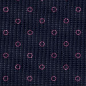 Dark Pink on Dark Navy Macclesfield Print Pattern Silk