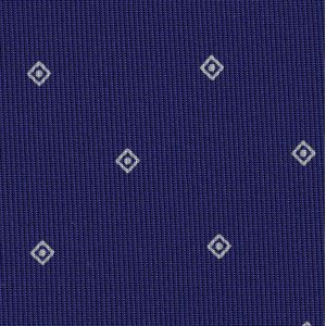 Off-White on Dark Purple Macclesfield Print Pattern Silk