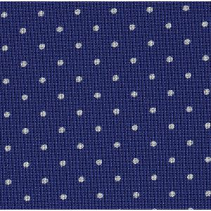White on Purple Blue Macclesfield Print Pattern Silk Pocket Square #MCP-482