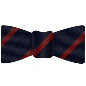 Red on Navy Mogador Striped Bow Tie #MGSBT-4