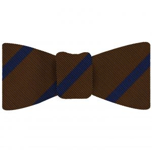 Blue on Chocolate Mogador Striped Bow Tie #MGSBT-5