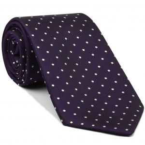 White Dots on Purple Pin-Dot Silk Tie #EPDT-9
