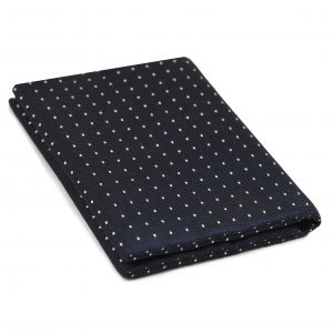White Dots on Dark Navy Pin-Dot Silk Wallet #EPDW-1