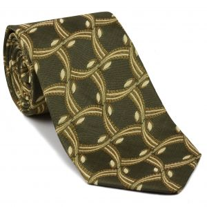 Gold, Yellow Gold, Light Yellow & Black Pattern Silk Tie #EPT-26