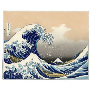The Big Wave of Kanagawa Hokusai Print Pocket Rectangle #1
