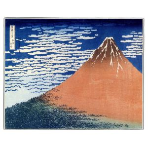 Mount Fuji Hokusai Print Pocket Rectangle #2