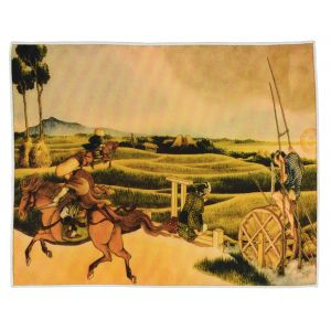 Samurai Riding on Horses Hokusai Print Pocket Rectangle #3