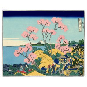 Mount Fuji From Gotenyama Hokusai Print Pocket Rectangle #7