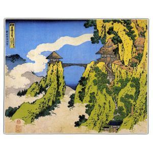 Temple Bridge Hokusai Print Pocket Rectangle #8