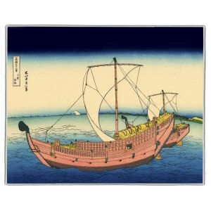 The Kazusa Sea Route Hokusai Print Pocket Rectangle #9