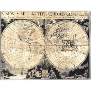 William Duke of Gloucester World Map Pocket Rectangle #3