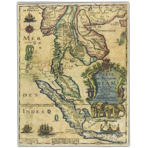 Carte Du Royaume De Siam Map Pocket Rectangle #4