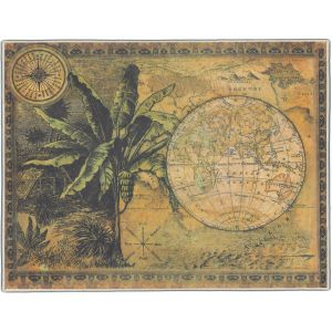 Tropical World Map Pocket Rectangle #7
