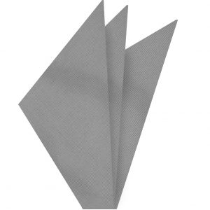Silver Gray Mogador Solid Pocket Square #MGSOP-11