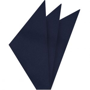 Midnight Blue Mogador Solid Pocket Square #MGSOP-2