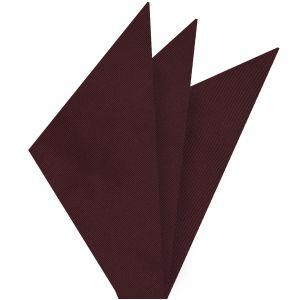 Burgundy Mogador Solid Pocket Square #MGSOP-5