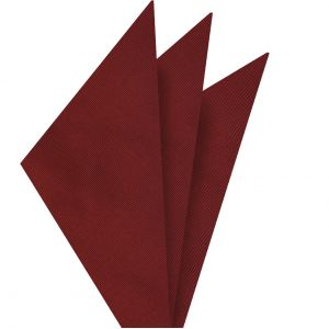 Red Mogador Solid Solid Pocket Square #MGSOP-6