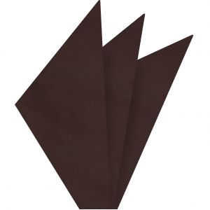 Chocolate Mogador Solid Pocket Square #MGSOP-7