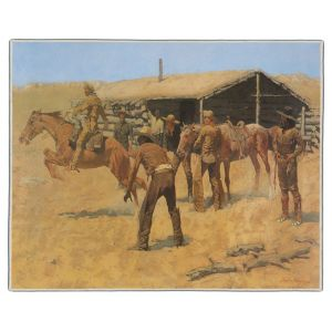 Coming and Going of the Pony Express Remington Painting Pocket Rectangle #3