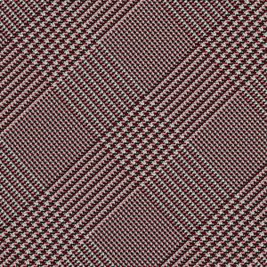 Burgundy, Black & White Prince Of Wales Silk Pocket Square #PWP-6