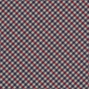 Dark Red, Navy Blue & White Shepherd's Check Silk Pocket Square #SCHP-2