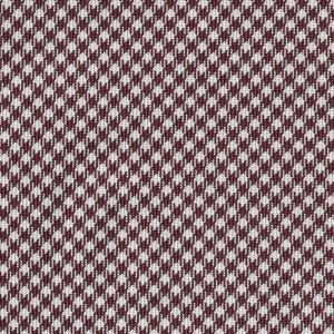 Burgundy & White Shepherd's Check Silk Pocket Square #SCHP-3