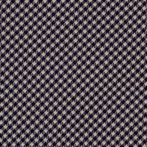 Midnight Blue & White Shepherd's Check Silk Pocket Square #SCHP-5