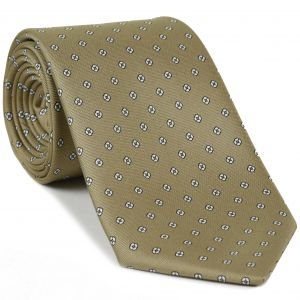 Black & White on Sand Macclesfield Print Pattern Silk Tie #MCT-485