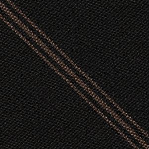 Grays Inn Striped Silk Pocket Square #UKLP-2  Light Chocolate on Black