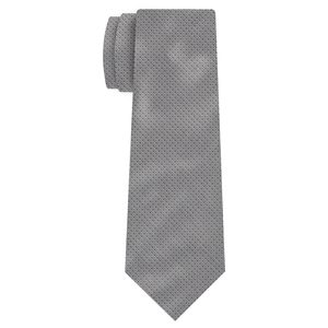 Silver & Black Formal/Wedding Silk Tie #WDT-22