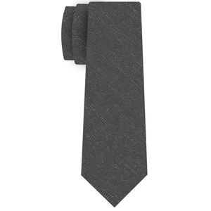 Charcoal Gray Shantung Solid Silk Tie #SHSOT-3