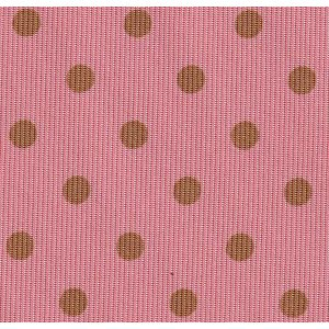 Sage on Light Salmon Macclesfield Print Dot Silk Pocket Square #MCDP-28