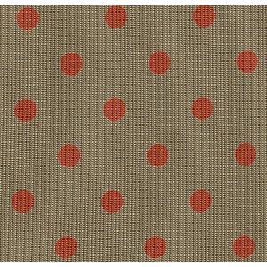 Orange Brick on Khaki Macclesfield Print Dot Silk Pocket Square #MCDP-29
